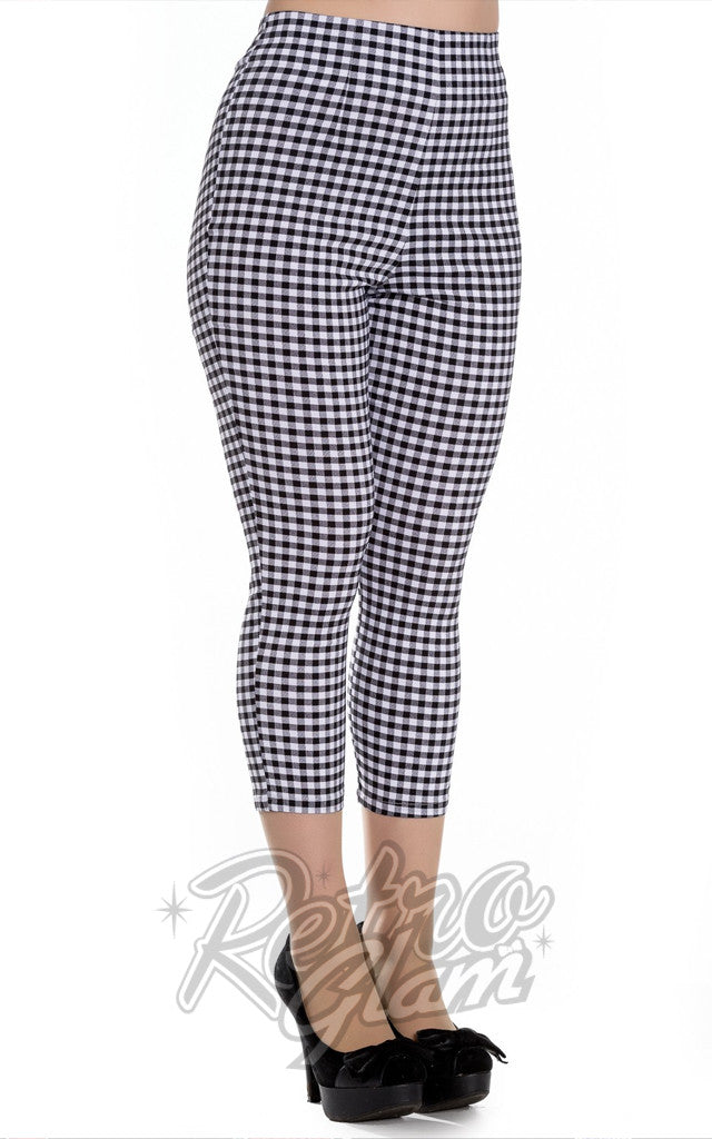 Hell Bunny Judy Capris in Black Gingham