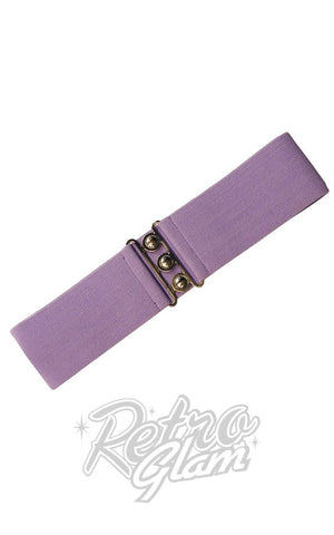 Hell Bunny Retro Belt in Lavender