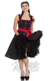 Hell Bunny Martie 50s swing Dress in Black with red trim front