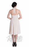 Hell Bunny Monroe Dress in Cream Back