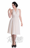 Hell Bunny Monroe Dress in Cream