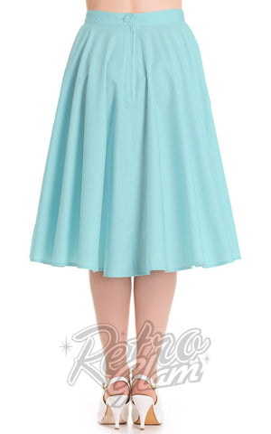 Hell Bunny Paula 50s Circle Skirt in Aqua Blue