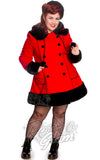 Hell Bunny Sarah Jane Coat in Red