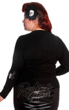 Hell Bunny black curvy Spiderweb Cardigan