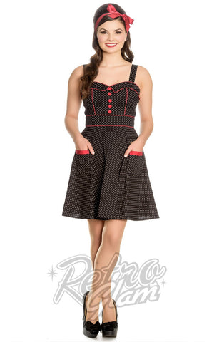 Hell Bunny Vanity Mini Dress in Black