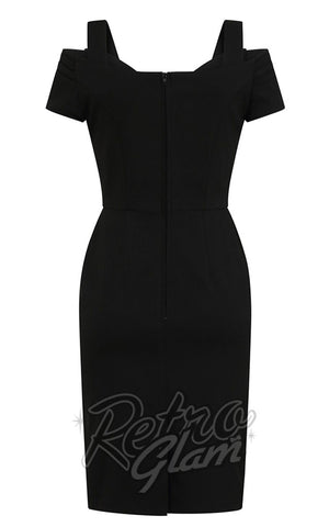 Hell Bunny Helena Pencil Dress in Black back
