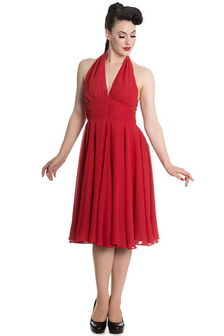 Hell Bunny Monroe Dress in Red