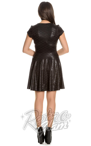 Spin Doctor by Hell Bunny Neptune Skater Dress Back