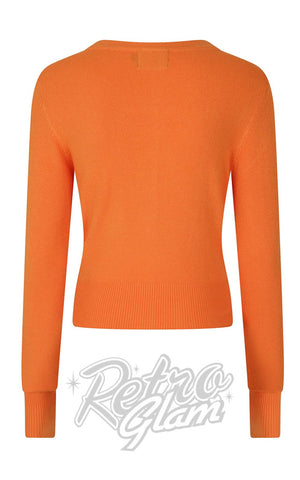 Hell Bunny Paloma Cardigan in Orange back