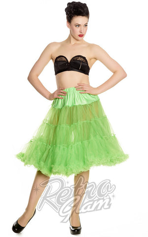 Hell Bunny Monster Green Long Petticoat (Crinoline)