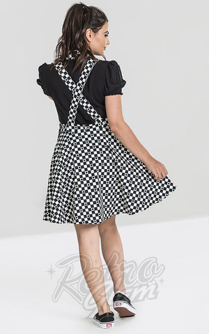 Hell Bunny Pokerface Pinafore Dress back