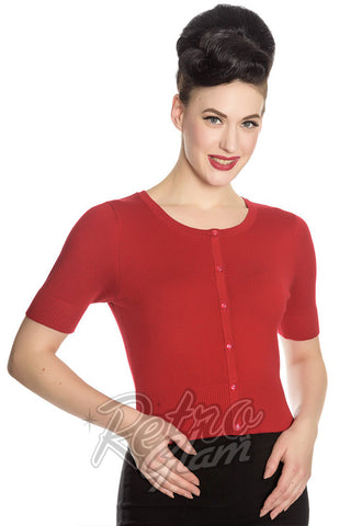 Hell Bunny Wendi Cardigan in Red