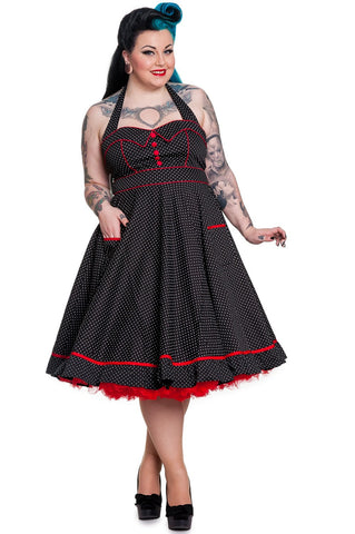 Hell Bunny Vanity 50's Dress Curvy Pinup