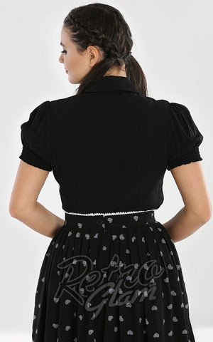 Hell Bunny Skelli Blouse gothic back