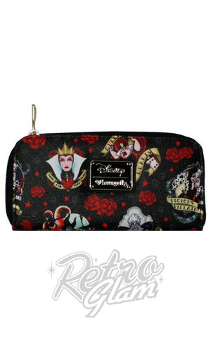 Loungefly Disney Villains Tattoo Flash and Roses Wallet