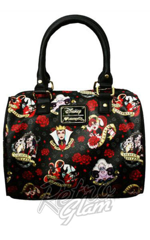 Loungefly Disney Villain Roses Tattoo Faux Leather Handbag