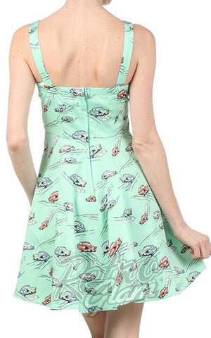 Ixia Mint Hot Rod Mini Dress back