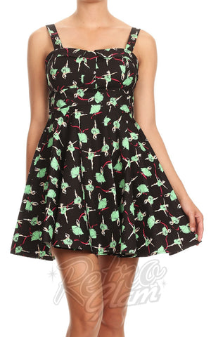 2a1d019e49a ... Ixia Pin-up Cruiser Dress in Ballerina Print detail