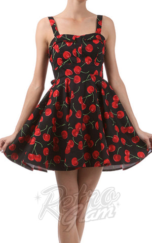 Ixia Pin-up Cruiser Dress in Black Cherry Print