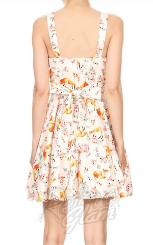 Ixia Pin-up Cruiser Dress in Fox Print back