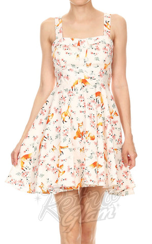 Ixia Pin-up Cruiser Dress in Fox Print