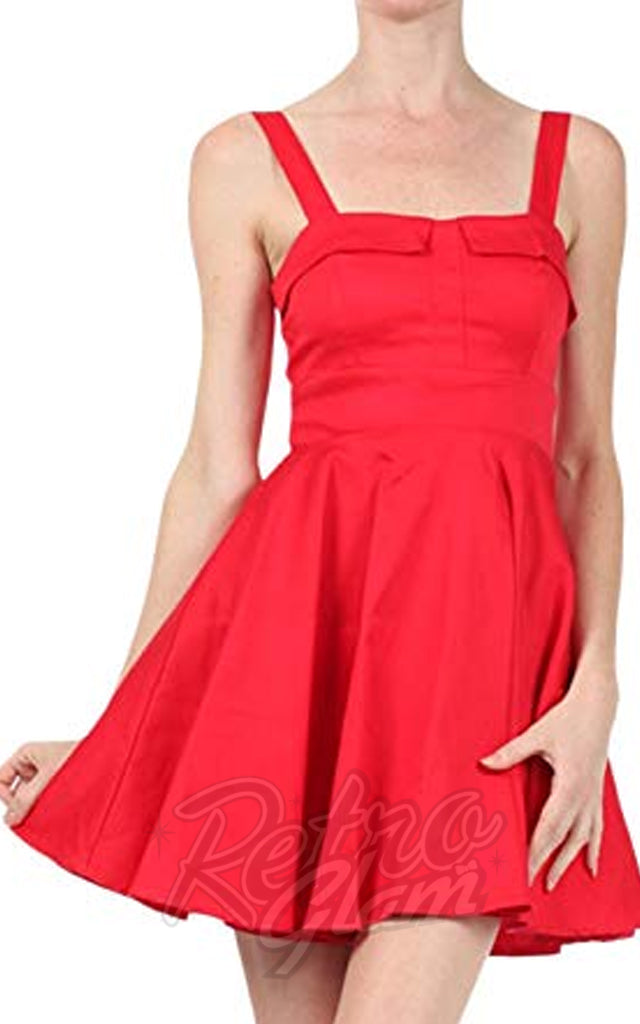 06e366d3106 Ixia Pin-up Cruiser Dress in Red – Retro Glam