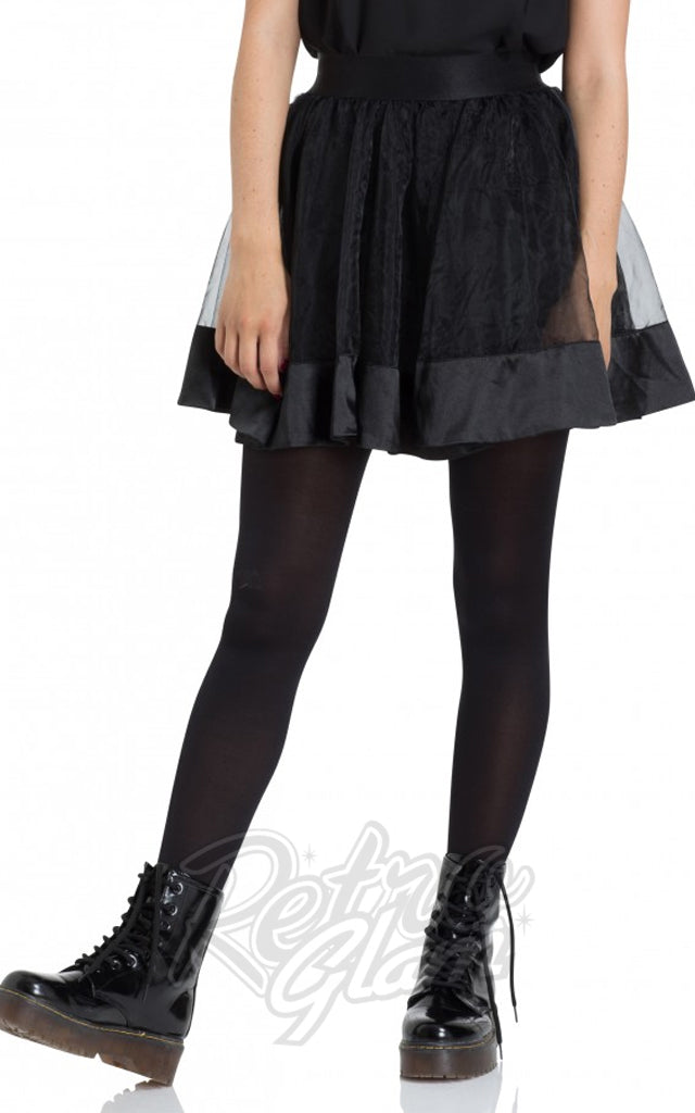 Jawbreaker Black Mesh Mini Skirt