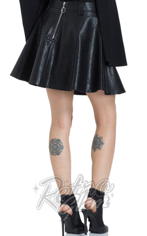 Jawbreaker Pleather Mini Skirt Back