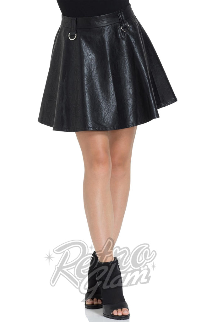 Jawbreaker Pleather Mini Skirt