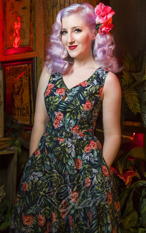 Katakomb Ashley Swing Dress tropical pinup
