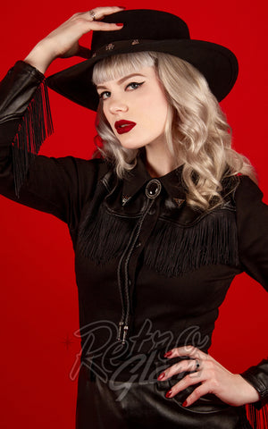 Katakomb Donna Western Shirt in Black