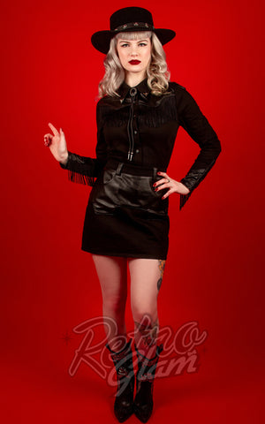 Katakomb Donna Western Shirt in Black 2