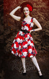Katakomb Rizzo Swing Dress in Skulls & Roses Print