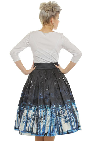 Lindy Bop Marnie Midnight Cat Swing Skirt
