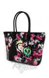 Loungefly Disney's Villians Malificent and The Evil Queen Grimhilde painted Floral Tote Bag back side