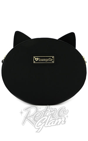 Loungefly Black Cat Face Crossbody Bag Back