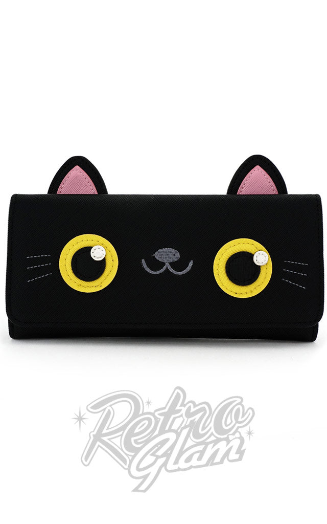 Loungefly Black Cat Face Trifold Wallet