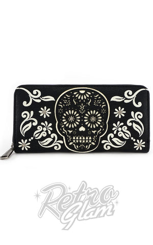 Loungefly Black & White Sugar Skull Wallet