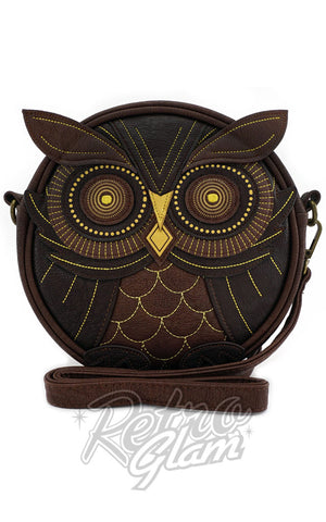 Loungefly Owl CrossBody Bag in Brown