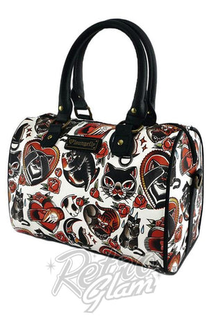 Loungefly Cat Tattoo Flash Duffle Bag side