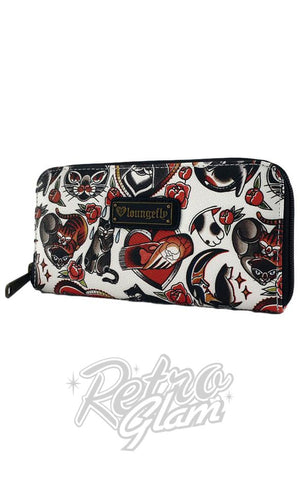 Loungefly Cat Tattoo Flash Wallet Side