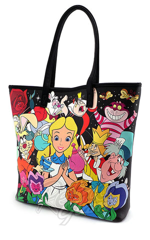 Loungefly Disney Alice in Wonderland Character Print Tote Bag