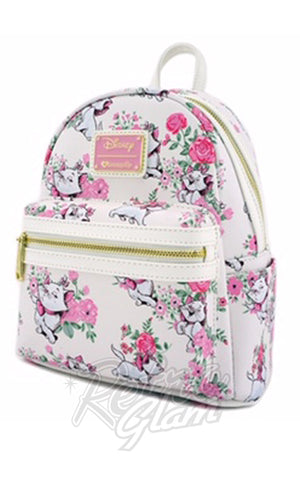 Loungefly Disney Marie Floral Mini Faux Leather Backpack