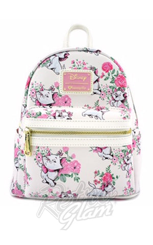 Loungefly Disney Aristocats Marie Floral Mini Faux Leather Backpack