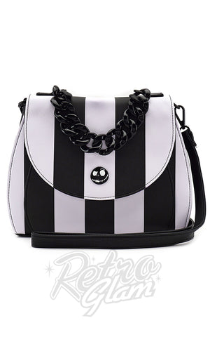Loungefly The Nightmare Before Christmas Striped Crossbody Handbag