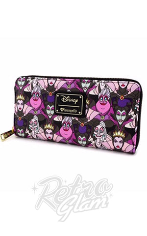 Loungefly Disney Villains All Over Print Wallet side