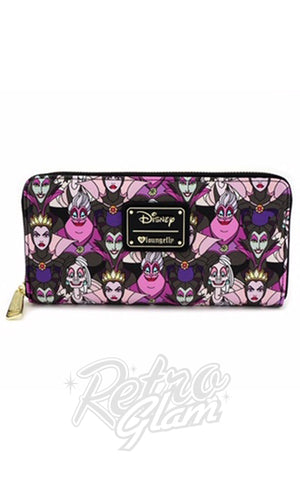 Loungefly Disney Villains All Over Print Wallet