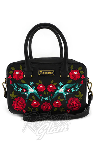 Loungefly Swallows & Roses Handbag