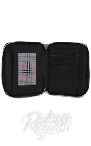 Loungefly x Hello Kitty Grey Plaid Wallet interior