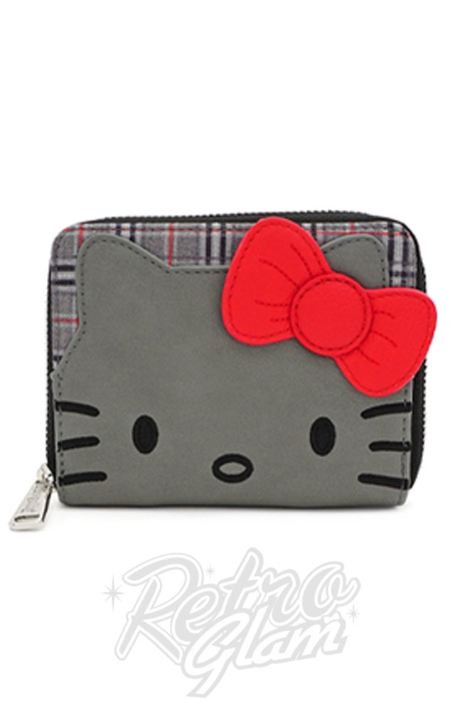 Loungefly x Hello Kitty Grey Plaid Wallet